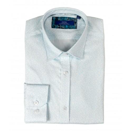 Camasa alba cu imprimeu bleu DON Vicente