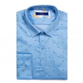 Camasa albastra cu imprimeu DON Rimes