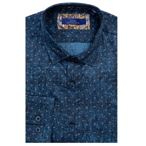 Camasa bleumarin cu imprimeu DON Nelson