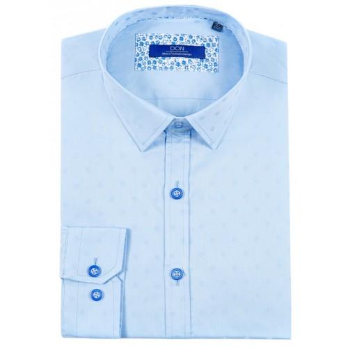 Camasa bleu cu imprimeu DON Matteo