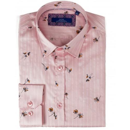 Camasa roz cu imprimeu DON Connor