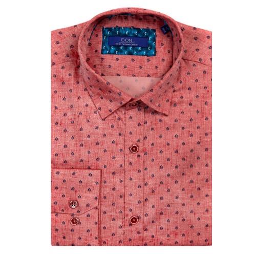 Camasa roz cu imprimeu DON Remi