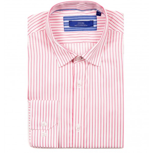 Camasa alba cu dungi roz DON Dexter