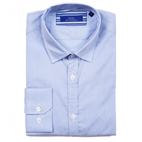 Camasa bleu cu dungi DON Foster