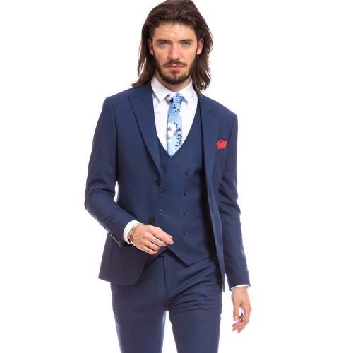 Costum slim fit albastru DON Gianluca