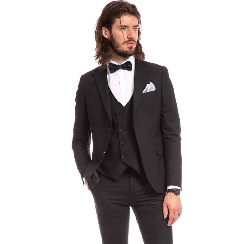 Costum slim fit negru DON Gianluca