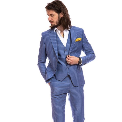 Costum slim fit bleu DON Napoli