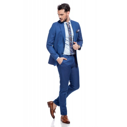 Costum slim fit albastru DON Arthur