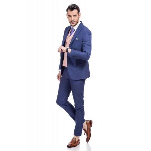 Costum slim fit albastru inchis DON Emir