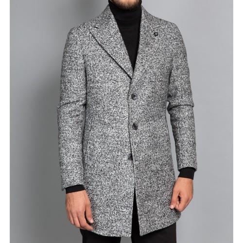 Palton lana gri DON Tripoli