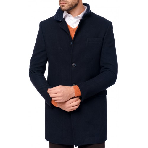Palton bleumarin DON Formal Coat