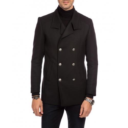 Palton military negru scurt DON Maddisson