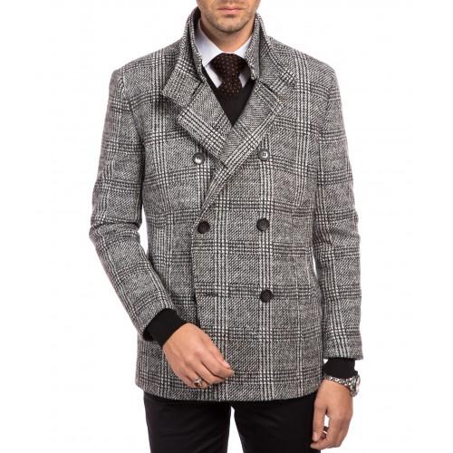 Palton tweed gri deschis DON Nilson