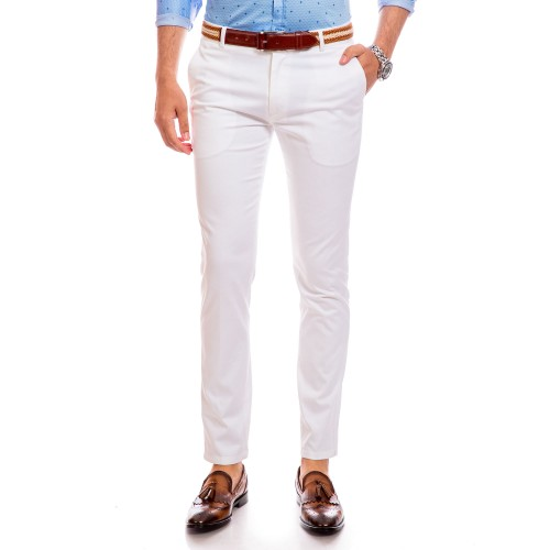 Pantaloni albi DON Tieri