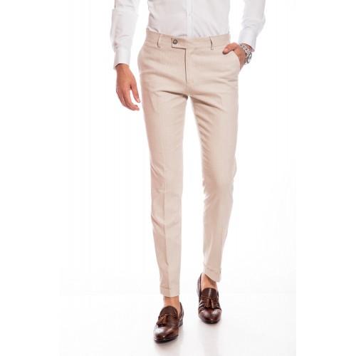 Pantaloni bej cu dungi DON Ravello Line