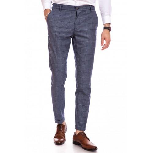 Pantaloni gri inchis in carouri DON Alberto