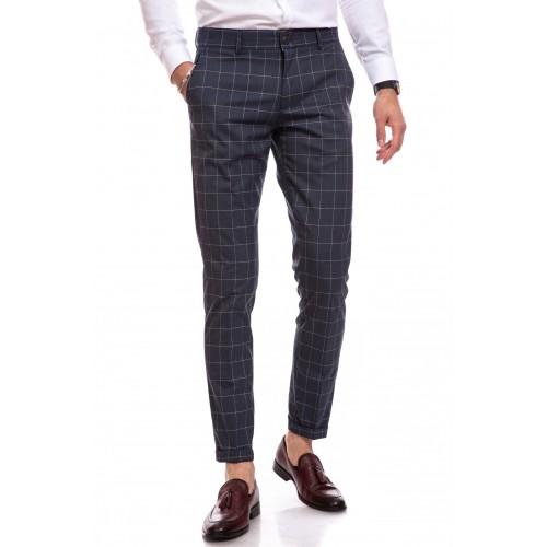 Pantaloni gri in carouri DON Carlo