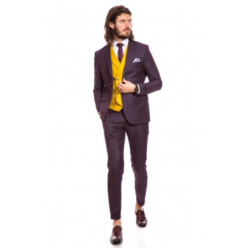 Costum slim fit mov DON Franco