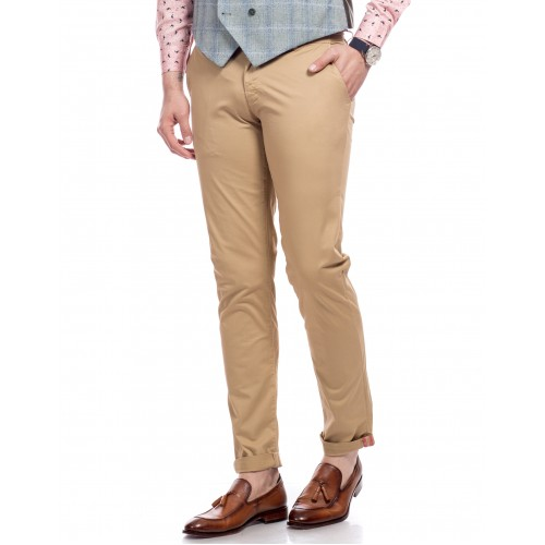 Pantaloni bej DON Ideal Choice