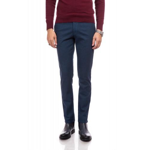Pantaloni bleumarin cu imprimeu DON Alpha Look