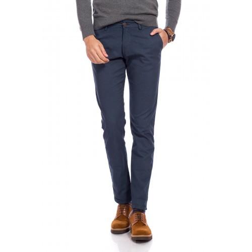 Pantaloni bleumarin cu imprimeu DON Felix