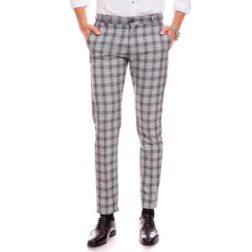 Pantaloni bleumarin in carouri DON Rafaele