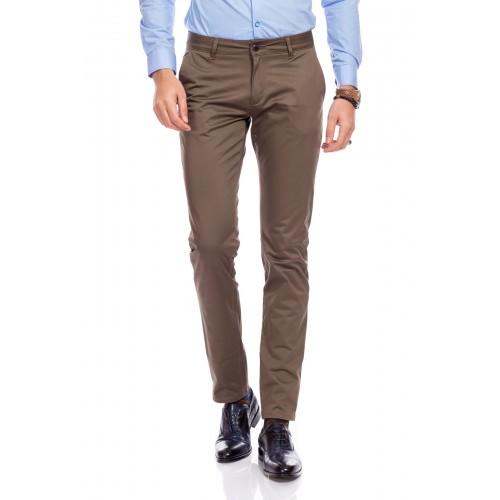 Pantaloni maro cappuccino DON Lucas