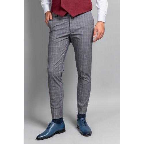 Pantaloni in carouri gri DON Ricci
