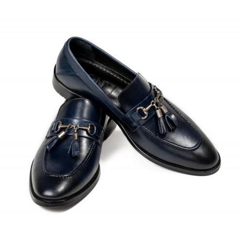 Pantofi bleumarin de piele DON Legend