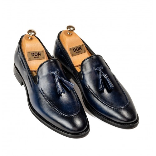 Pantofi bleumarin de piele DON William