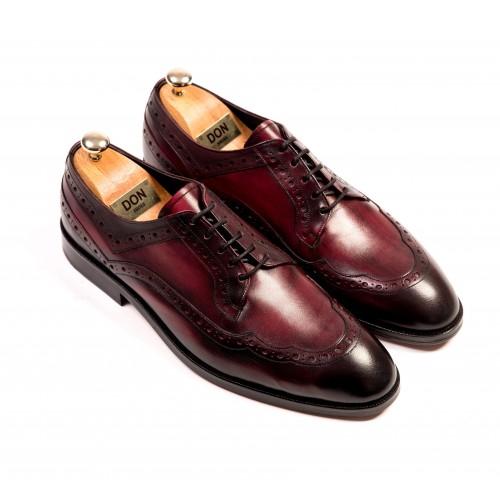 Pantofi Oxford grena de piele DON Patrick Signature