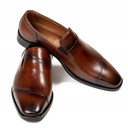 Pantofi maro de piele DON Collins