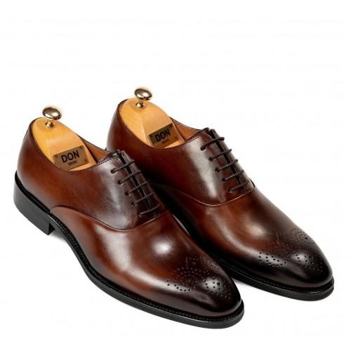 Pantofi maro de piele DON Javier