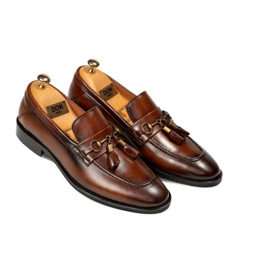 Pantofi maro de piele DON Legend