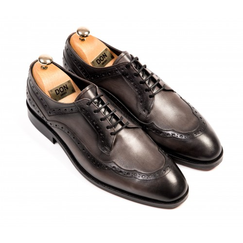 Pantofi Oxford gri de piele DON Patrick Signature