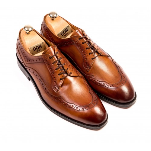 Pantofi Oxford maro de piele DON Patrick Signature