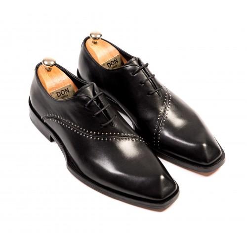 Pantofi Oxford negri de piele DON Alessandro Signature