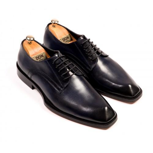 Pantofi Oxford bleumarin de piele DON Laurence Signature