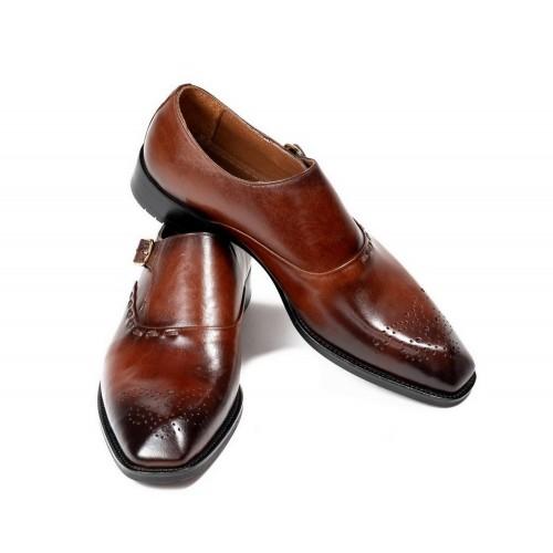 Pantofi maro de piele DON Benedict