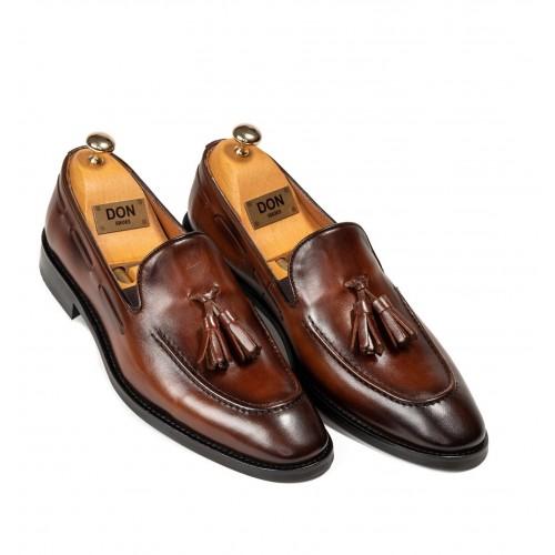 Pantofi maro de piele DON William