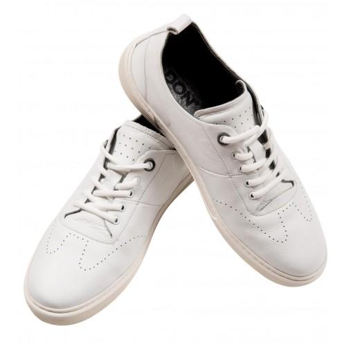 Pantofi sport albi piele naturala DON Parker