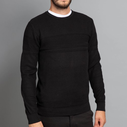 Pulover negru DON Lamberto