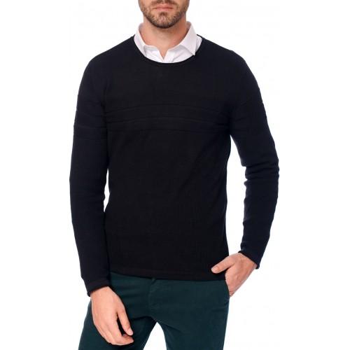 Pulover negru DON Fresh Style