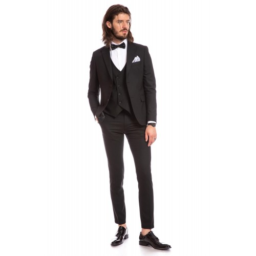 Costum slim fit negru DON Gianluca