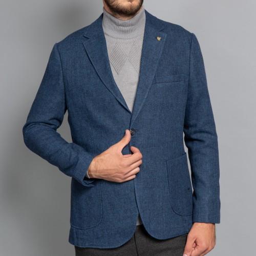 Sacou de lana indigo DON Dionisio