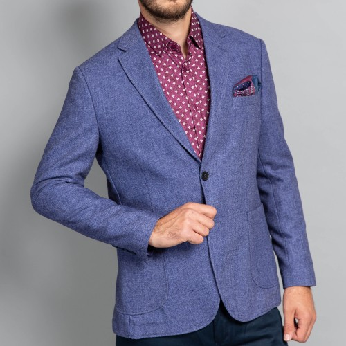 Sacou de lana albastru DON Dionisio