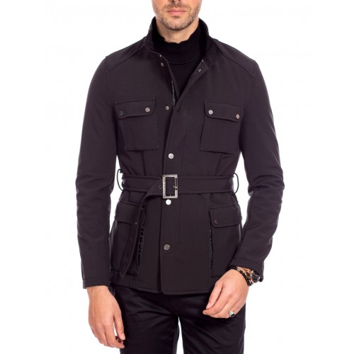 Trench negru DON Boulevard