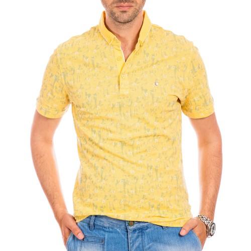 Tricou Polo galben Saburo