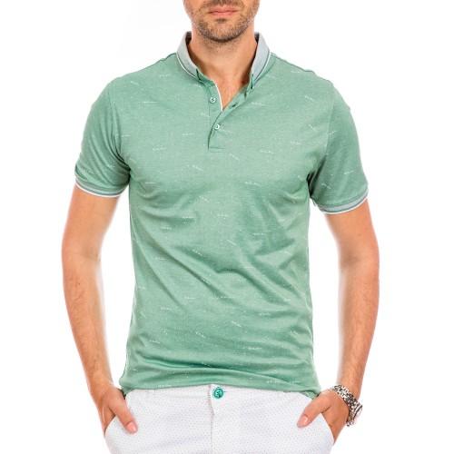 Tricou Polo verde menta Valence