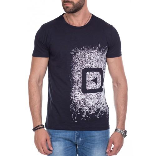 Tricou bleumarin cu imprimeu DON Play